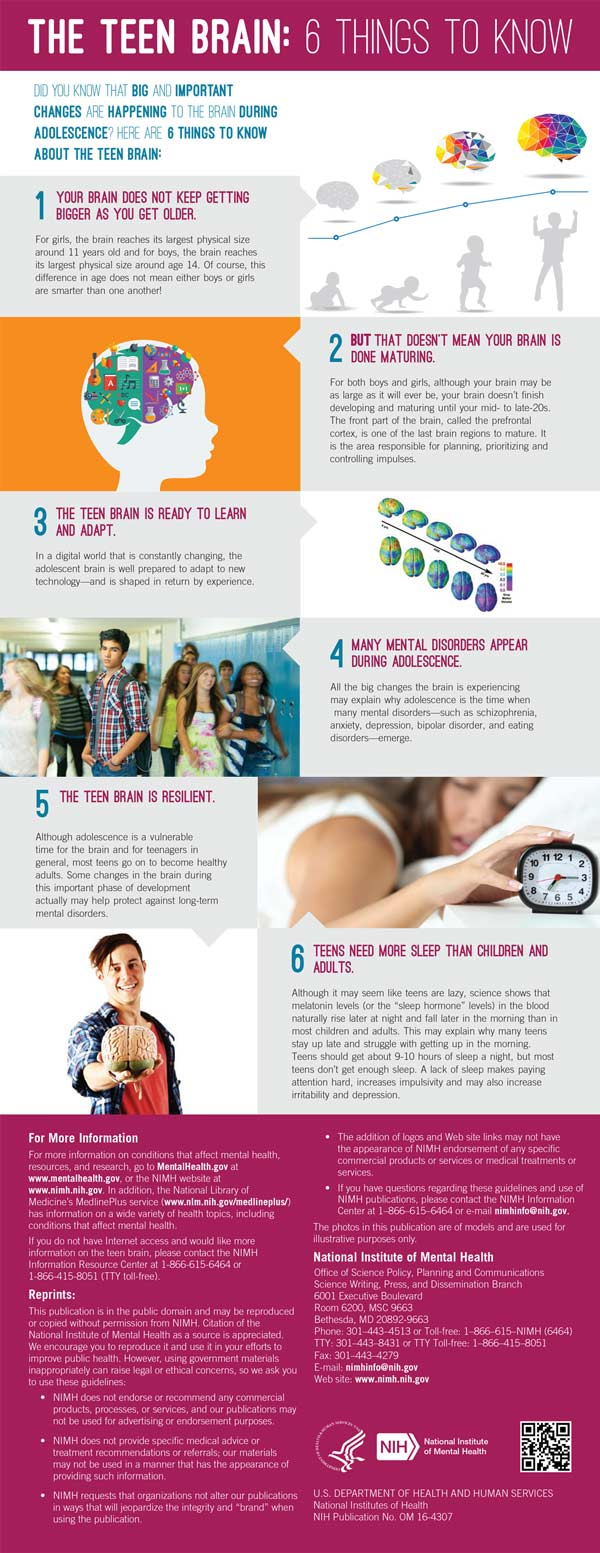 The Teen Brain: 6 Things to Know